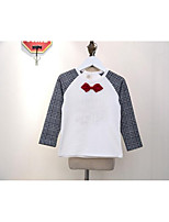 Boy's Casual/Daily Check TeeCotton Spring / Fall Black / White