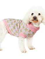Gatti / Cani Costumi / Cappottini / Maglioni Verde / Blu / Rosa Abbigliamento per cani Inverno / Primavera/Autunno GeometricoDivertente /