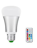10W E26/E27 Круглые LED лампы A60(A19) 1 COB 900lm-1200lm lm Тёплый белый / RGB Регулируемая V 1 шт.