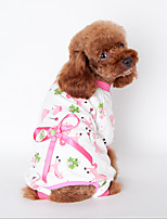 Chien Sweatshirt Pyjamas Jaune Bleu Incanardin Vêtements pour Chien Hiver Printemps/Automne Dessin-Animé Mignon Décontracté / Quotidien