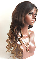 T1b/4/30 Loose Wave Glueless Lace Front Human Hair Wigs With Baby Hair For Black Women Medium Brown Cap