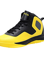 Men's Athletic Shoes Spring / Fall Comfort PU Athletic Flat Heel Others / Lace-up Yellow / Red / White Basketball