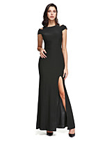 TS Couture® Formal Evening Dress Sheath / Column Off-the-shoulder Ankle-length Jersey with Split Front