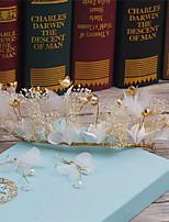 נשים ריינסטון סגסוגת דמוי פנינה בד כיסוי ראש-חתונה אירוע מיוחד קז'ואל זרי פרחים חלק 1