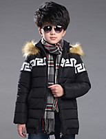 Boy's Casual/Daily Solid Down & Cotton PaddedCotton Winter Black / Green