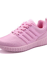 Women's Athletic Shoes Other Leather Casual Athletic Lace-up Black Pink Red Running Other