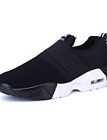 Women's Athletic Shoes Winter Comfort PU Casual Flat Heel Gore Black White Walking