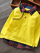 Boy's Casual/Daily Solid Hoodie & SweatshirtCotton Spring / Fall Green / Red / White / Yellow