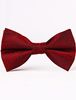 Для мужчин Винтаж / Для вечеринки / Для офиса / На каждый день Бабочка,Смесь хлопка / Полиэстер / Хлопок Шахматка,Красный / Белый / Синий