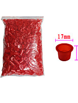 Solong Tattoo 1000 pcs Tattoo Ink Cups Plastic Caps Medium Size Red Color TC102-2