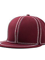 College Wind Casual Stitching Color Wine Red Hip-Hop Dome Flat Baseball Caps For Men And Women