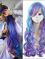 cheveux synthétiques 70cm couleur mixte longs ondulés animés petite princesse poney celestia cosplay harajuku perruques mes femmes pas