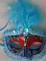 1PC Feather Mask For Halloween Costume Party