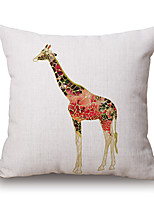 Polyester Decorative Cushion Pillow Cover Animal Giraffe Sofa Home Decor 45x45cm