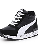 Women's Sneakers Spring Fall Winter Platform Comfort Fleece Leatherette Outdoor Office & Career Casual Wedge Heel Platform Lace-upBlack