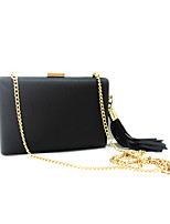 Women's PU  Fashion Black Clutch Wedding with Tassel