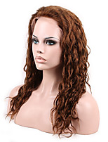 14- 26Inch Human Virgin Human Hair 4# Full Lace & Lace Front Natural Wavy Wig With Baby Hair