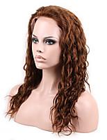 14- 26inch человек девственный человеческих волос 4 # полный шнурок&фронта шнурка естественный волнистый парик с волосами младенца
