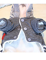 Dog Coat Gray Dog Clothes Winter Cartoon Cute / Casual/Daily /