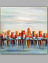 Peint à la main Abstrait Paysage Peintures à l'huile,Moderne Classique Un Panneau Toile Peinture à l'huile Hang-peint For Décoration
