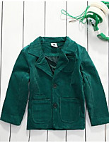 Boy's Casual/Daily Solid Suit & BlazerCotton Spring / Fall Green