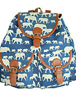 Women Canvas Casual Backpack Blue