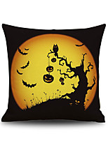 Halloween Pumpkin Tree 2 Square Linen Decorative Throw Pillow Case Cushion Cover