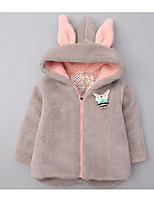 Girl's Casual/Daily Solid Suit & BlazerCotton Winter Pink / Gray