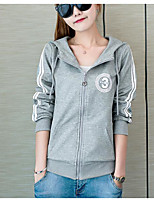 Sign # 3563 2016 New College Wind Spring thin hooded cardigan sweater jacket student letters printed dress