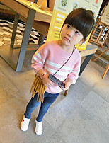 Girl's Casual/Daily Striped Sweater & CardiganAcrylic Spring / Fall Blue / Pink