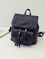 Casual Backpack Women PU Beige Pink Gray Black
