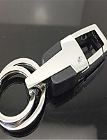 Men 'S Car Metal Key Ring Leather Key Chain