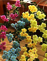 Set of 1 PCS 1 Une succursale Polyester Roses Fleur de Table Fleurs artificielles Long 35.4(inch)