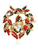 natal série de jóias do broche de sino guirlanda broche de alta qualidade