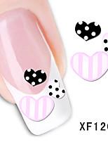 Love Pattern Watermark Nail Sticker