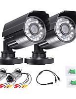 TWVISION 1000TVL Waterproof H.264 AHD Ourdoor CCTV Surveillance Security  Camera 2pcs