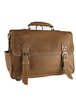 Men Cowhide Casual / Outdoor Shoulder Bag Brown