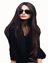 style de mode longs cheveux raides bruns couleur perruques synthétiques pour les femmes