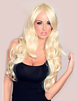 Blonde Color Long Curly Wigs Capless Synthetic Wigs For Afro Women