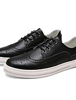 Коричневый / Белый-Мужской-На каждый день-МикроволокноУдобная обувь-Туфли на шнуровке