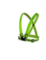beachten - grün Gitter reflektierende Sicherheitskleidung geführt