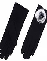 gants en cachemire en automne et en hiver (noir)