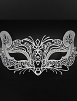 Women's Halloween party Carnival laser cutting metal Venice fox mask3006A1