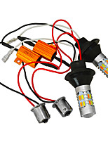 Jiawen 2pcs 5730 20LED Car Dual-Color Switchback LED KIT Turn Signal DRL Bulbs