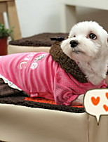 Dog Coat Pink Dog Clothes Winter Cartoon Cute / Casual/Daily