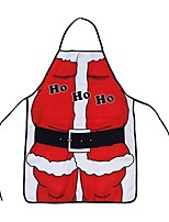Unisex Christmas Xmas Theme Christmas Ornament Santa Claus Apron Red