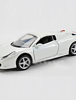Действие рис / игрушечные транспортные средства Модели и конструкторы Автомобиль Металл черный увядает / Кот / Белый / СеребристыйДля