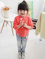 Girl's Casual/Daily Jacquard Sweater & Cardigan,Cotton Spring / Fall Orange / Beige
