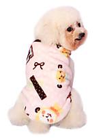 Hunde Mäntel / Pyjamas Blau / Rosa Hundekleidung Winter / Frühling/Herbst Karton Niedlich / Lässig/Alltäglich / warm halten