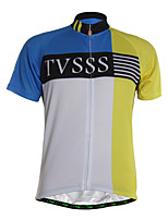 Sports Cycling Jersey Men's Short Sleeve Breathable /Front Zipper / Ultra Light Fabric / Soft / Comfortable Bike Jersey